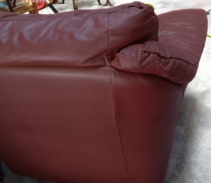 Leather chair after repair