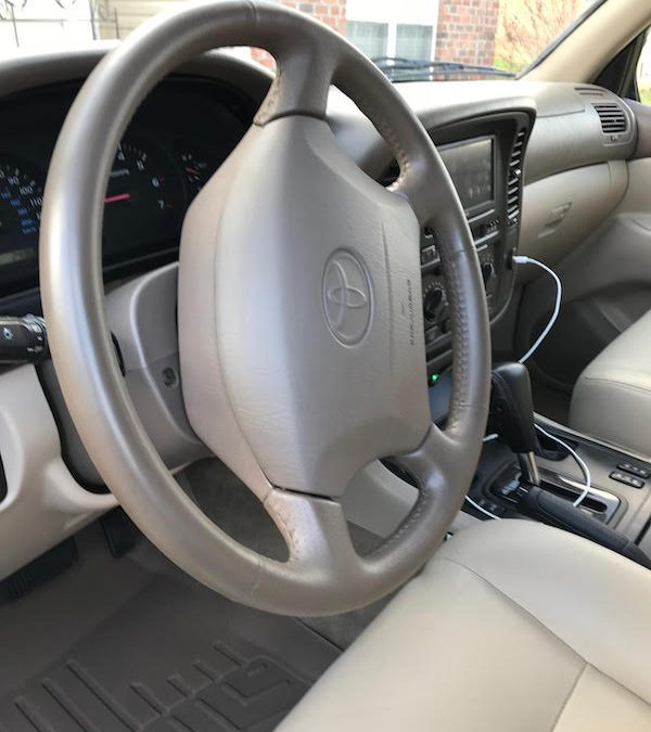 2000 Toyota Land Cruiser Leather Refinishing